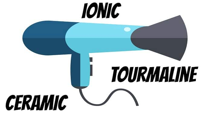 Tourmaline vs Ceramic vs Ionic blow dryer technology