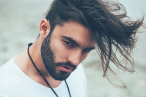 long hair on top short on sides hairstyle