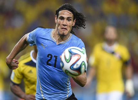 Edinson Cavani Long Hair