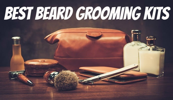 a grooming kit for men to use on their beards